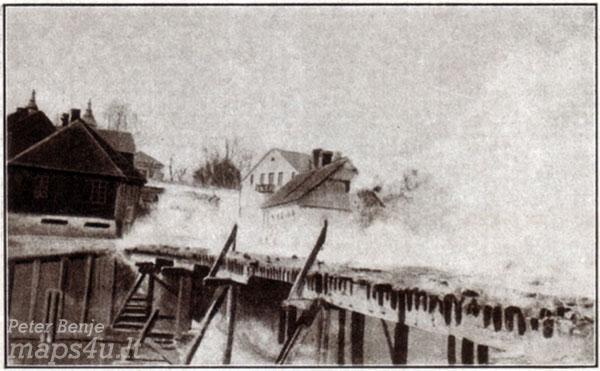 Kalvarija, degančio tilto vazidas