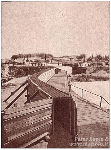 Kalvarija, laikinas tiltas su priedanga