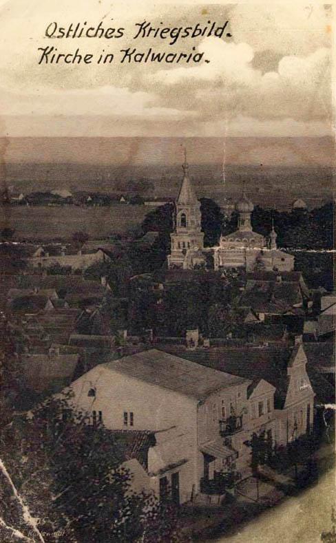 Kalvarija 1914 miesto vaizdas iš Bažnyčios bošto