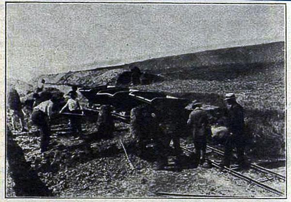 Geležinkelio tiesimo darbai šalia Kalvarijos