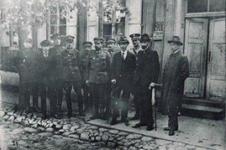 Kalvarija. Lenkijos ir Lietuvos derybų delegacijos