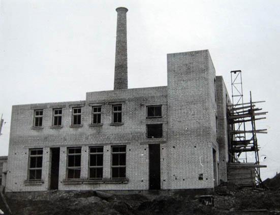 Kalvarijos pieninės statyba 1962 m.