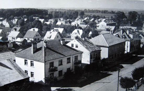 Kalvarija, 1965 m. panorama iš bažnyčios bokšto.