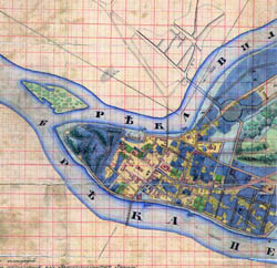 Kaunas city plan 1847