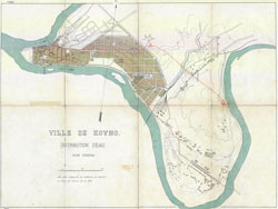 Kauno miesto planas 1870-1890