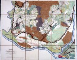 Kauno miesto planas 1836