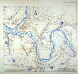 Kauno tvirtovės planas 1887