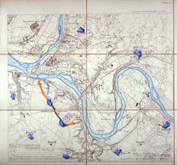 Kauno tvirtovės planas 1889