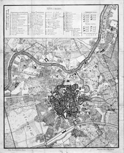 Plan city Vilnius (Wilno) 1840