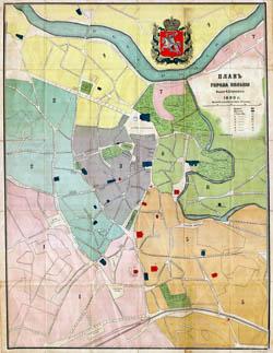 Vilniaus planas 1890