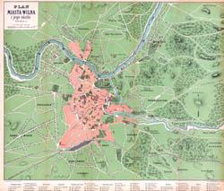Vilniaus miesto planas 1890. Plan miasta Wilna