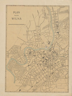 Plan miasta Wilna 1916