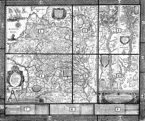 M.K.Radvilos 1613 m. žemėlapis