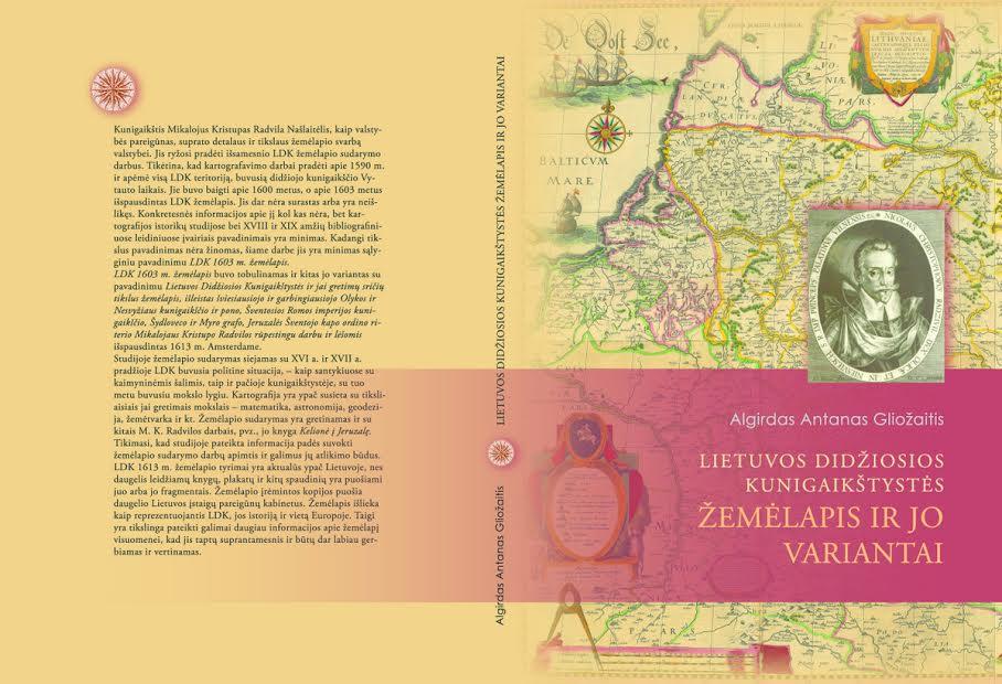 A.A.Gliožaitis LDK žemėlapis ir jo variantai