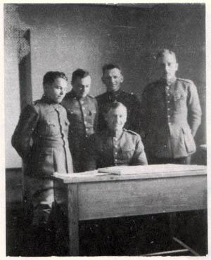 Karo topografijos skyriaus karininkai