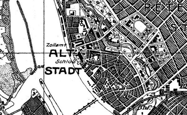 Karte der 8 Armee