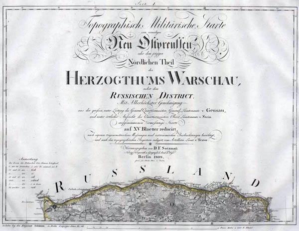 Topographisch - Militärische Karte vom vormaligen Neu - Ostpreussen