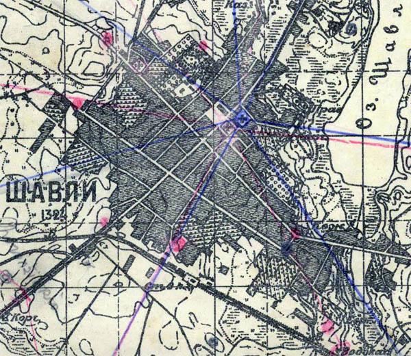 Карта Шяуляй