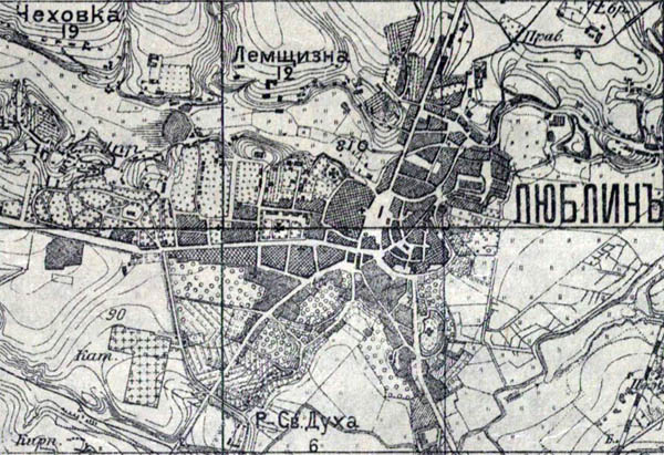 Liublin na carskiej mapie
