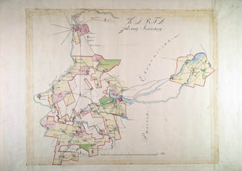 Karta gubernij Jezerskiej ekonomij Grodzienskiej 1780