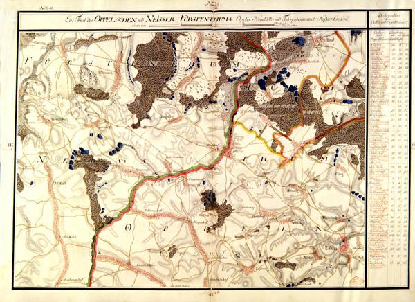 Map 20 Krieges Carte von Schlesien