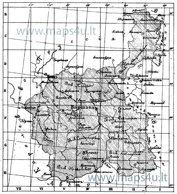 Семитопографическая Карта царства Польского