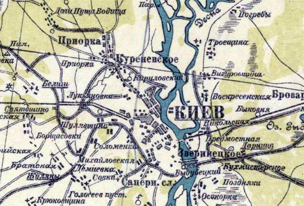 Специальная карта Европейской России