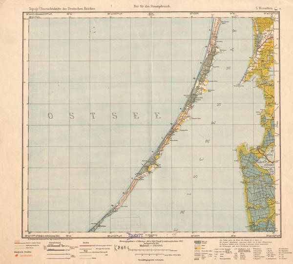 Topographische Übersichtskarte des Deutschen Reiches