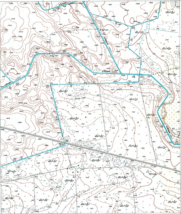 Советская карта 1:5000