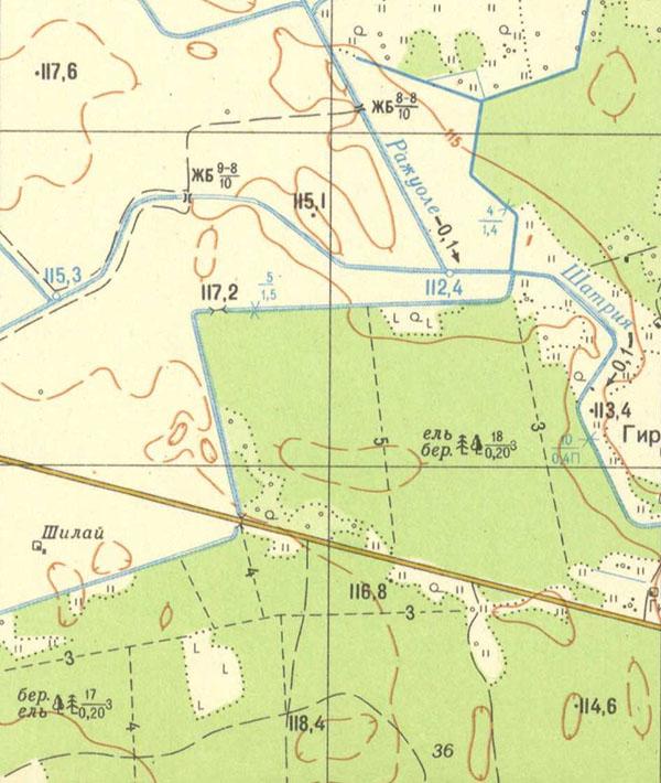 советская карта 1:25000