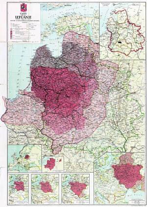 Carte de Lituanie
