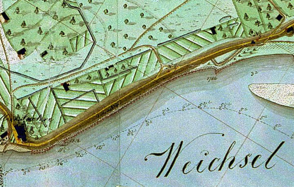Vyslos upės plano fragmentas