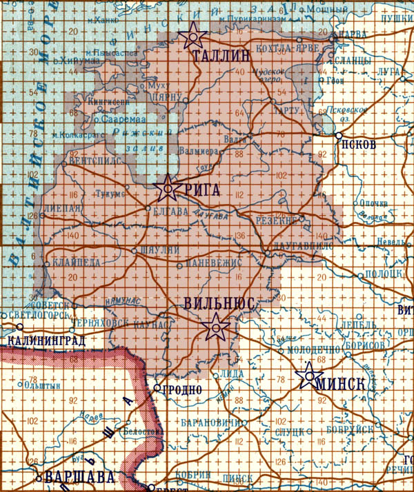 Index of 1:50000 maps