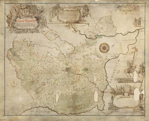 карта княжества Биржай