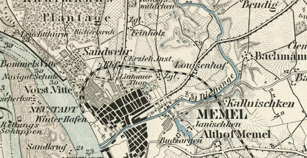 Karte des Deutschen Reiches 1:100000