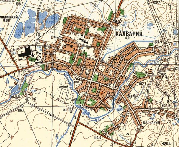 Kalvarija 1983 metai žemėlapis