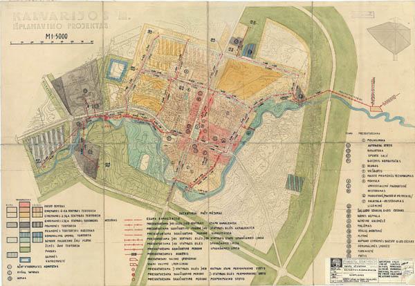 Kalvarijos genplanas 1969