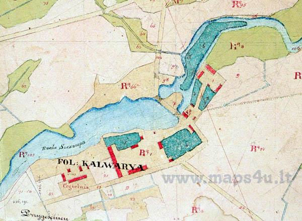 Kalvarijos dvaro planas 1840-1850 m.