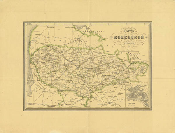 Maps of Kaunas district 1871
