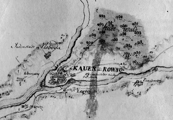 Kauno planas 1776