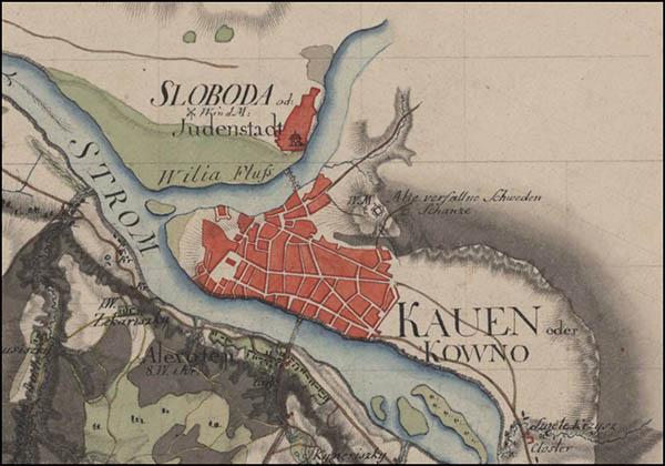 Kauno planas 1795