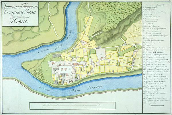 Kauno planas 1798