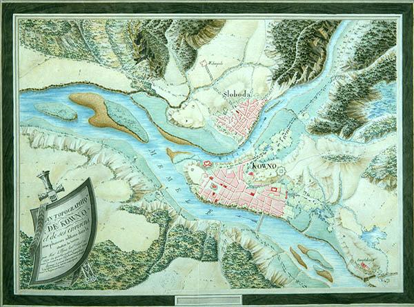 Kauno planas 1800