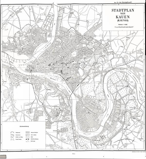Stadtplan von Kaunas