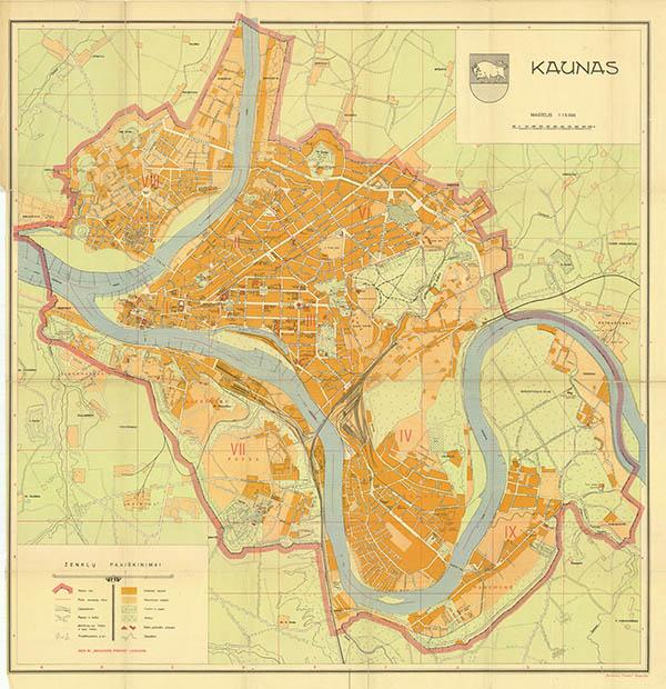 Kauno miesto planas 1935
