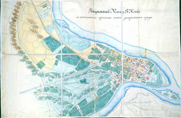 Kauno miesto planas 1850