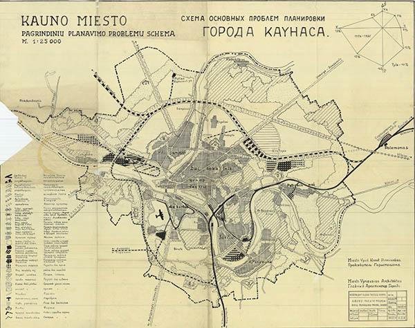 Kauno miesto planas 1945