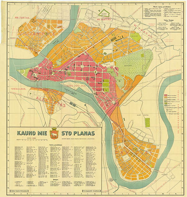 Kauno miesto planas 1929