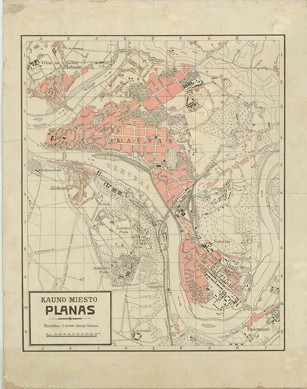 Kauno miesto planas 1920