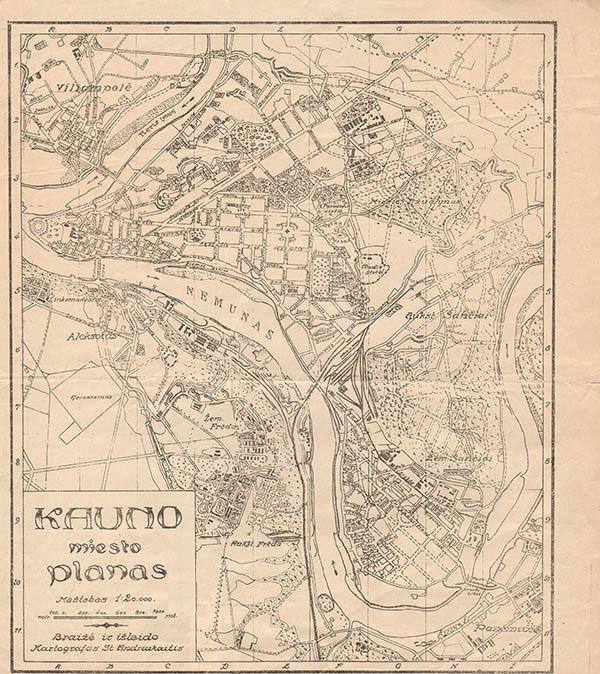План города Каунас 1920
